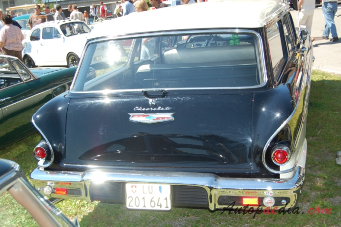 Chevrolet Brookwood 1st series 1958-1961 (1958 estate 4d), rear view
