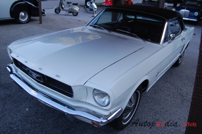Ford Mustang 1st generation 1964-1973 (1966 Convertible), left front view