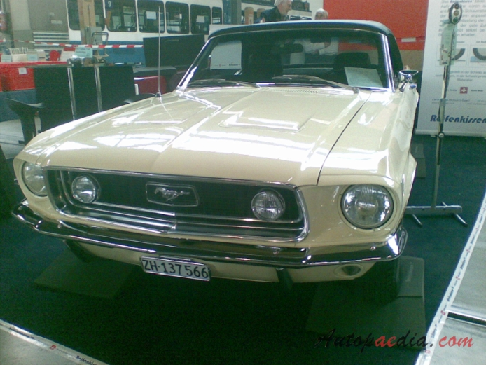 Ford Mustang 1st generation 1964-1973 (1968 Convertible GT), left front view
